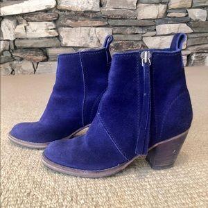 Blue Suede Acne Pistol Boots